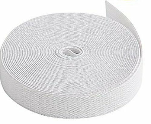 White Flat Elastic in 30mm x 3m This comes from a continuous roll.