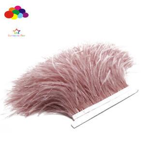 Leather-Pink-Ostrich-feather-Fringe-Ribbon-Trim-prix-pour-10-m-A-faire-soi-meme-Craft