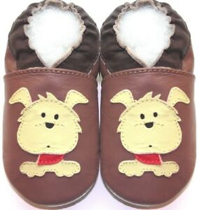 Minishoezoo-dog-tan-6-12-m-soft-sole-baby-leather-crib-shoes