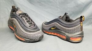 tout neuf 400c2 f33dc Details about Nike Air Max 97 Pollux (GS) Athletic Sneakers Off Noir Orange  Boys Size 4 NWOB!