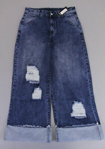 891f28768 Details about Monokrom Nasty Gal Women's Smells Like Teen Spirit Wide Leg  Jeans SI4 Blue US:6