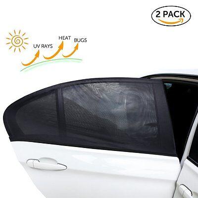 2x Auto Sonnenschutz Baby Kinder Sonnenblende Sonnenschutzblende Seitenscheibe