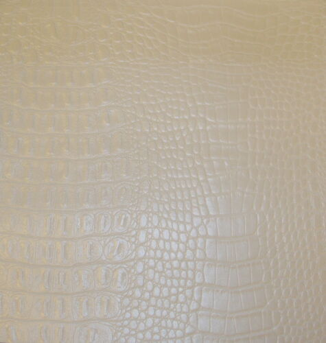 "vinyl  Fake leather PEARL Gator Glimmer Superior fabric BTY 56/""  wide"