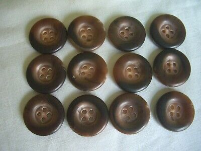 BABY BLUE MOTTLED 4 HOLE  BUTTONS  x 12 FREE P/&P
