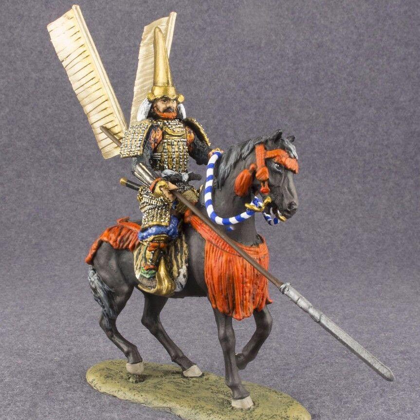 Monterad ryttare Medeltida japanska samuraj 1  32 Målad kavallerist 54mm leksak Soldier