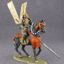 Mounted Rider Medieval Japanese Samurai 1/32 Painted Cavalryman 54mm Toy Soldier