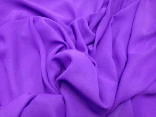 "PURPLE CHIFFON FABRIC 60"" WIDE 1 YARD"