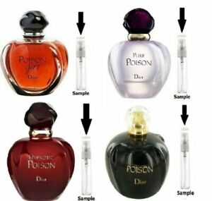 Authentic Poison Perfume Samples: Original Poison, Pure, Hypnotic, Poison Girl