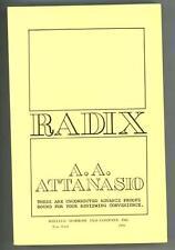 Radix by A.A. Attanasio  (Advance/Proof)