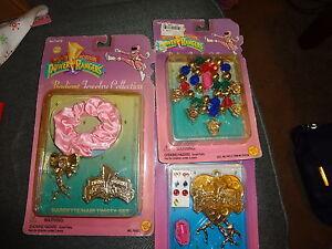 Mighty Morphin Power Rangers Radiant Jewelry GIRLS 3 PACKS NEW 1995