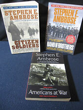 Ambrose: Americans at War, Band of Brothers, Citizen Soldiers - Incl. Shipping!!