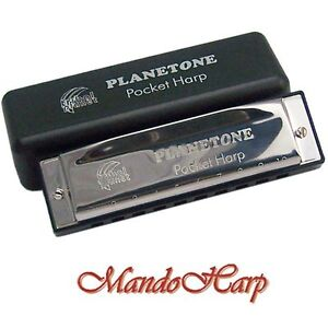Tribal Planet Planetone Harmonica - Pocket Harp (SELECT KEY - D ONLY) NEW
