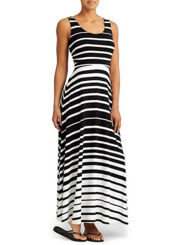 Black// White  SIZE XS    #717183 NWOT Athleta Stripe Maxi Dress