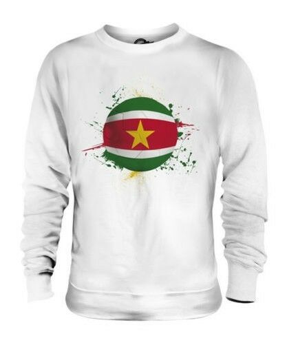 SURINAME FOOTBALL UNISEX SWEATER TOP GIFT WORLD CUP SPORT