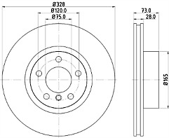 FITS BMW X3 1.6 2.0 3.0 X4 2.0 3.0 NTEX FRONT DISC BRAKES PAIR MDC2549