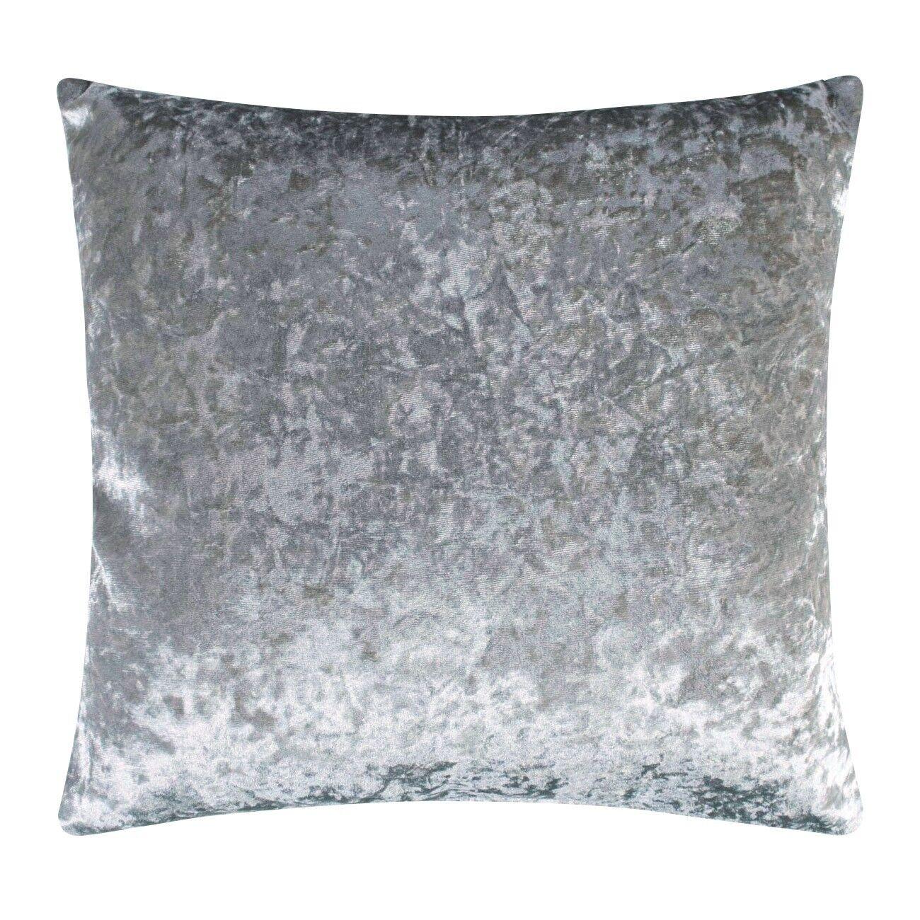 Luxus Cuscini.Cuscini Luxus Crushed Samt Kissen In Silber 17 X 17 43cm X