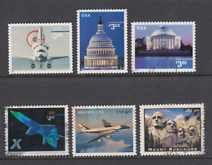 US-Sc-3261-3472-3647A-4018-4144-4268-used-1998-2008-Priority-Mail-6-different