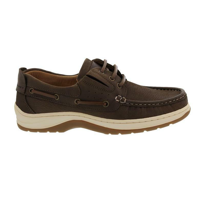 Sommerset Boat shoes Somerton, Nubukleder, Brown, Schnürung und Gummizug, Wechse