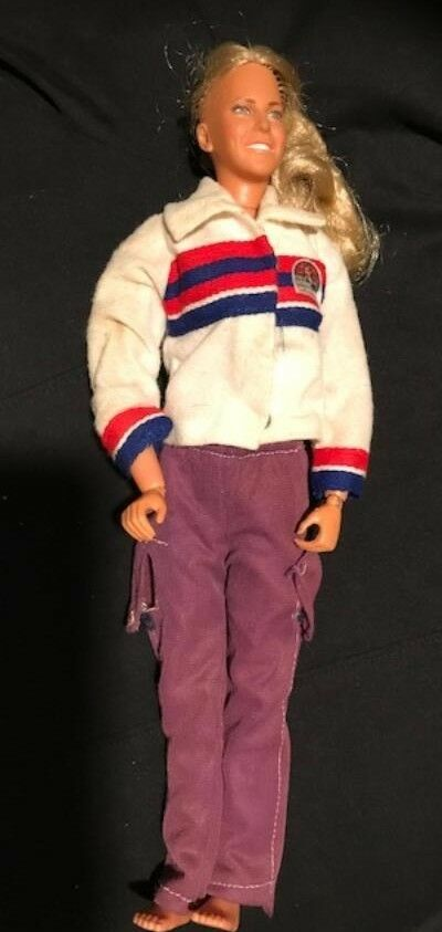 Vintage Bionic Woman, Jamie Sommers Action Figure Doll in Original Outfit 1970s