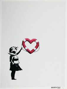 Banksy-x-Post-Modern-Vandal-Girl-With-Heart-Shaped-Float-Louise-Michel-COA