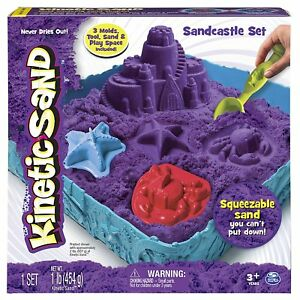 Kinetic-Sand-Box-Set-Magic-Play-Sand-amp-Moulds-Spinmaster