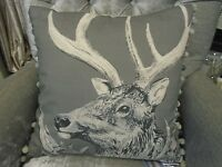 Voyage Maison Darby Charcoal 50cm X 50cm Feather Filled Cushion - Linen C170132