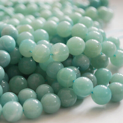 "16"" Strand Semi Precious Gemstone Amazonite Round Beads 4mm, 6mm, 8mm 10mm 12mm"