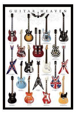 Guitar Heaven Poster  Gloss Laminated New Sealed Free UK P/&P