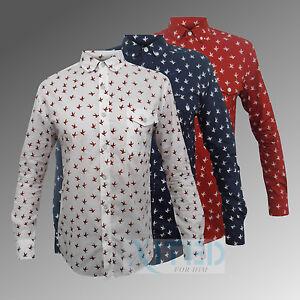 Mens-Alfie-Moon-Shirt-Bird-Soul-Star-Full-Sleeve-Formal-Casual-Fashion-MS-OLLY