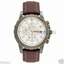 Fossil Original FS4788 Men's Dean Brown Leather Watch 45mm Chonograph