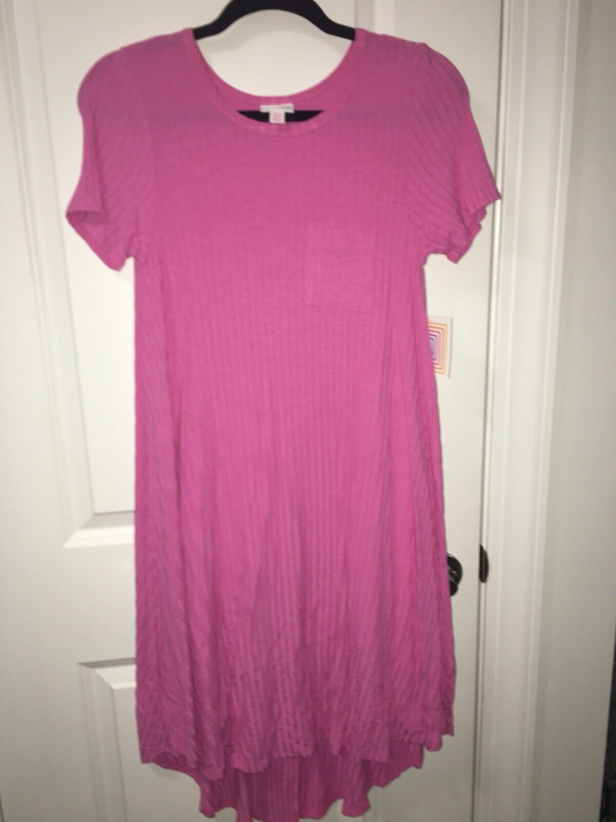 Lularoe XXS Carly Dress Bubblegum Rosa Ribbed Super Soft