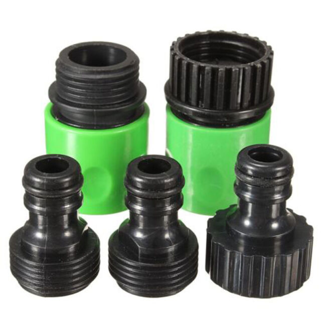5Pcs Garden Watering 3/4  Hose Plastic Quick Fitting Connect Tap Adapter Kit Hot  sc 1 st  eBay & 5pcs Garden Watering 3/4