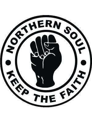 "Pre Cut Icing Northern Soul Cake Topper 7.5/"""