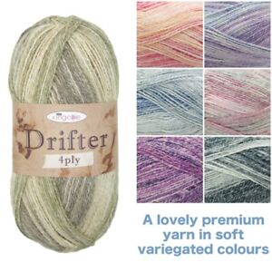 King-Cole-Drifter-4-Ply-Premium-Acrylic-Cotton-amp-Wool-100g-Knitting-Yarn