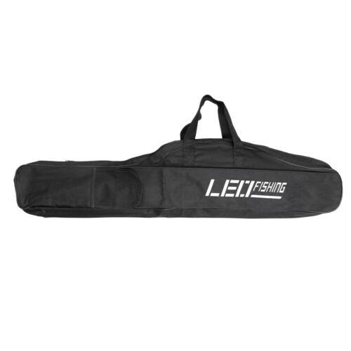 Schwarz Angelrute Taschen Gepäck Tragetasche Fishing Tackle Tasche M//L