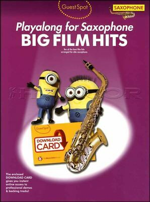 Well-Educated Guest Spot Playalong For Alto Saxophone Big Film Hits Sheet Music Book/audio Musical Instruments & Gear