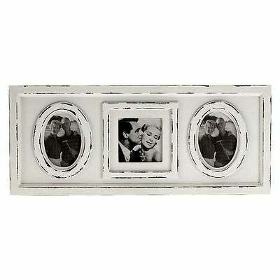 NEW Casa Uno Antique Triple Photo Frame