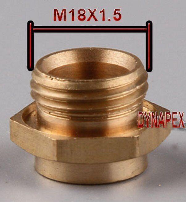 Fixation Réducteur Métrique M18 M18X1.5 M18X1.5 M18X1.5 Mâle à M14 M14X1.5 Femme Jauge Compteur 5344f6
