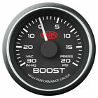 SASS Boost Gauge 30 In-Hg to 20 PSI 52mm - Black (SG-TB52B)