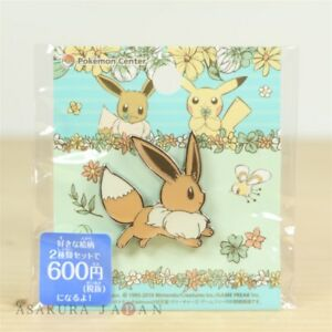 """Pokemon Center Original 7days story Pin badge """" Day 4 """" Eevee Pins From Japan"""