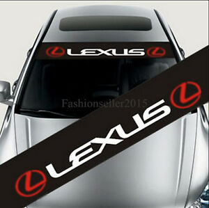 Reflective Front Windshield Decal Vinyl Car Stickers For LEXUS - Lexus custom vinyl decals for car