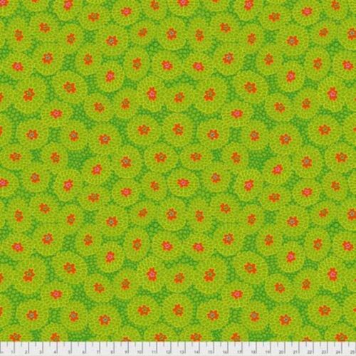 Odile Bailloeul PWOB003 Broderie Boheme Grandmas Curtains Lime Fabric By Yd