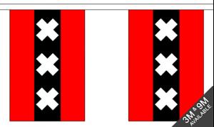3 metre long Amsterdam 10 flag bunting