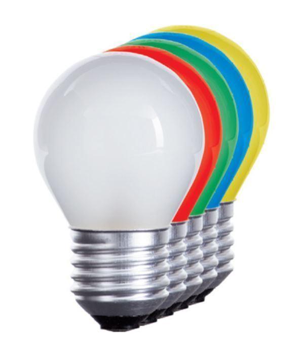 LED Tropfen bunt E27 Glühbirne für Biergartenkette Glühlampe Lichterkette 230V