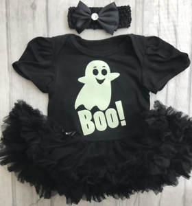 Impartial Baby Girl Ghost Halloween Tutu Ange Glow In The Dark Boo Déguisement Mignon Cadeau-afficher Le Titre D'origine