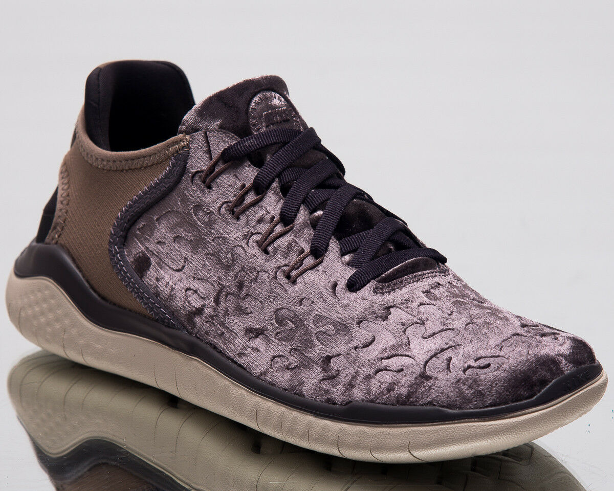 Nike Free RN 2018 Wild Velvet Women Running shoes Grey Brown Sneakers AQ0563-020
