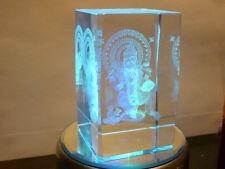 cristalloterapia CRISTALLO GANESH BASE LED COLORE statua oriente scultura india