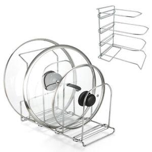 Stand porta coperchi piatti padelle da cucina in metallo - Porta coperchi ...