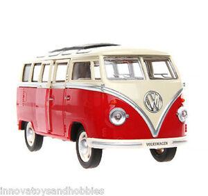 Hippie van bus car model toy collectible Volkswagen kombi diecast 1:24 2 colors