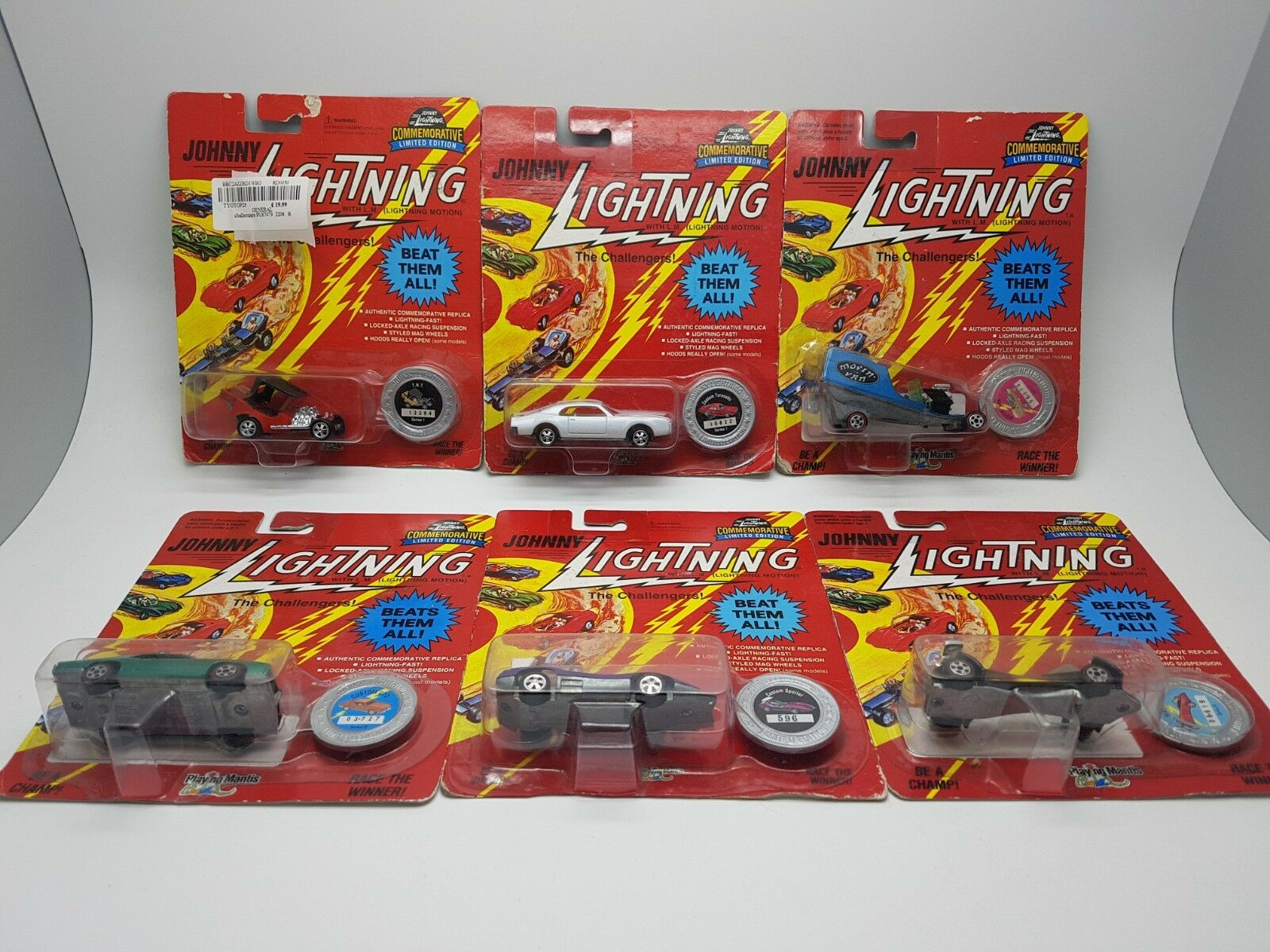 6 x Johnny Lightning - The Challengers Limited Edition lot